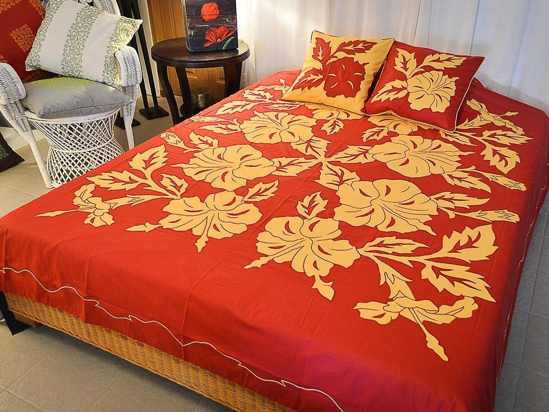 Bed Cover Appliqué Pucuk